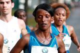Aberu Kebede in the 2014 BMW Frankfurt Marathon (organisers / Victah Sailer)