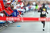 William Kipsang running in the 2008 Rotterdam Marathon (AFP / Getty Images)