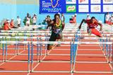 Mpho Tladi winning the 110m hurdles at the 2015 African Youth Championships (Clyde Koa Wing)