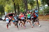 Stephen Ogari leads the field at the 20 Kilometres de Paris (Organisers)