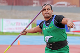 Júlio César de Oliveira, winner of the javelin at the South American Championships (Oscar Muñoz Badilla)