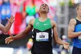 Ashton Eaton, moments after breaking the World Decathlon record in Eugene (Getty Images)