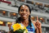 Novlene Williams-Mills after winning the 400m at the 2014 IAAF Diamond League meeting in Shanghai (Errol Anderson)