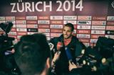Kariem Hussein faces the press after winning the 2014 European 400m hurdles title (Getty Images)