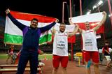 The hammer medallists at the IAAF World Championships, Beijing 2015 (Getty Images)