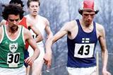 Pekka Paivarinta (43) of Finland leads the inaugural IAAF World Cross Country race from Neil Cusack of Ireland (Mark Shearman)