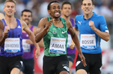 Mohammed Aman winning over 800m at the IAAF Diamond League meeting in Rome (Gladys von der Laage)