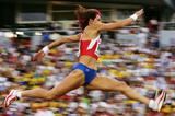 Tatyana Lebedeva en route to her first European triple jump title (Getty Images)