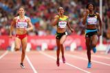 Shaunae Miller (right) at the 2014 Commonwealth Games (Getty Images)