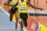 Deresse Mekonnen takes down a solid field in the Birmingham 1500m (Getty Images)