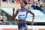 Shaunae Miller on her way to winning the 400m at the IAAF Diamond League meeting in Lausanne (Victah Sailer)