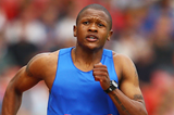 Lesotho's Mosito Lehata in action in the 200m (Getty Images)
