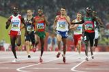 Defending Olympic 800m champion Yurir Borzakovskiy gets run out of a qualifying spot in the semi finals as Wilfred Bungei wins (Getty Images)