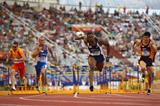 David Oliver of the US dominated the 110m hurdles in Split (Getty Images)