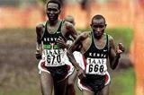 Kenya's Patrick Ivuti leads compatriot Paul Tergat in the 1999 World Cross (Getty Images)