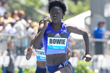 Tori Bowie wins the 200m at the IAAF Diamond League meeting in New York (Victah Sailer)