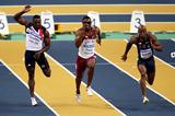 Harry Aikines-Aryeetey of GBR falls in the 60m Semi-Final (Getty Images)