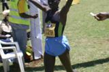Adero Nyakisi after her narrow victory at the 2009 Ugandan National Cross Country Championships (Daniel Senfuma)