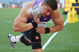 Shot put winner David Storl at the IAAF Diamond League meeting in Rome (Gladys von der Laage)
