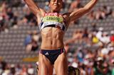 Jessica Ennis continues to hold a strong lead over the rest of the Heptathlon field (Getty Images)