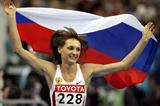 Tatyana Kotova (RUS) celebrates her 7.00m win in Moscow (AFP / Getty Images)