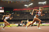 Canada's Melissa Bishop in the 800m at the IAAF World Championships, Beijing 2015 (AFP / Getty Images)