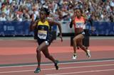Elaine Thompson at the 2015 IAAF Diamond League meeting in London (Kirby Lee)