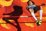Anna Chicherova, of Russia, competes in the women's high jump qualification during day six of the IAAF World Championships, Beijing 2015 at Beijing National Stadium on August 27, 2015 in Beijing, China (Getty Images)