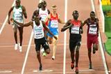Nijel Amos, David Rudisha and Musaeb Balla in the 800m semi-final at the IAAF World Championships Beijing 2015 (Getty Images)