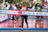 Amane Gobena wins the Istanbul Marathon (Organisers)