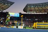 Usain Bolt leaves the rest of the world in his wake on his way to securing his fifth individual World Record (Getty Images)