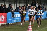 2009 Hannut XC women's race - From left to right : Meseret Mengistu, Mary Ngugi, Mimi Belete, Veerle Dejaeghere, eventual winner Margaret Wangari Muriuki, and Almensh Belete (Henri Salavarda)