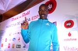 Kenya's Philip Kimutai ahead of the Rock 'n' Roll EDP Lisbon Marathon (Photorun)