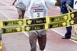 Tariku Bekele wins the 2005 Elgoibar cross country (Julián Azkue)