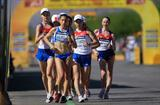 Antonella Palmisano of Italy leading the pack in the women's junior race in Chihuahua (Getty Images)