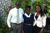 Vernonica Campbell-Brown along with her Foundation scholarship recipient Terry-Shanice Matthias and Vice-Principal of St. Andrew Technical High School Mr. Frank Boyd (Vernonica Campbell-Brown)