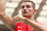 Russia's Ilya Shkurenev in the decathlon shot put (Getty Images)