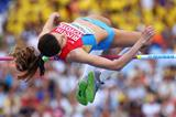 Anna Chicherova in the womens High Jump Final at the IAAF World Athletics Championships Moscow 2013 (Getty Images)