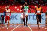 Yousef Ahmed Masrahi wins his 400m heat at the IAAF World Championships, Beijing 2015 (Getty Images)