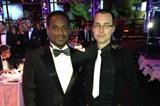 Facebook contest winner David Baka with IAAF Ambassador and former 200m World champion Ato Boldon at the 2013 World Athletics Gala (IAAF)