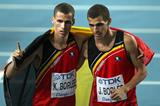 Kevin and Jonathan Borlee after the 400m final at the 2011 IAAF World Championships in Daegu (Getty Images)