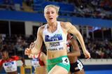 Sally Pearson of Australia crosses the line to win gold in the Women's 60 Metres Hurdles Final during day two - WIC Istanbul (Getty Images)