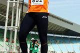 Rutger Smith acknowledges his Discus Throw PB - 66.60m in qualifying (Getty Images)