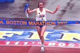 Lidiya Grigoryeva of Russia wins the 111th Boston Marathon (Getty Images)