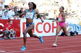 Novlene Williams-Mills winning the 400m at the 2014 IAAF Diamond League in Oslo (Mark Shearman)