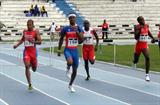Puerto Rico's Javier Culson (194) powers home to 400m Hurdles gold ahead of Felix Sanchez (extreme left) at 22nd CAC Athletics Championships (Javier Clavelo Robinson)
