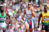 (L-R) Yousef Ahmed Masrahi of Saudi Arabia, Albert Bravo of Venezuela and Jermaine Gonzales of Jamaica competes in the Men's 400m Round 1 Heats on Day 8 of the London Olympic Games on 4 August 2012 (Getty Images)