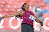 Gia Lewis-Smallwood at the 2014 IAAF Diamond League in Glasgow (Jiro Mochizuki)