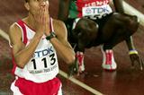 Rashid Ramzi celebrates winning gold in the 1500m (Getty Images)