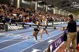 It doesn't get much closer than this! Sentayehu Ejigu nips Shalane Flanagan in the Boston 5000m (Victah Sailer)